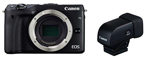 Canon ミラーレス一眼カメラ EOS M3 ボディ(ブラック) EVFキット EOSM3BK-BODYEVFK