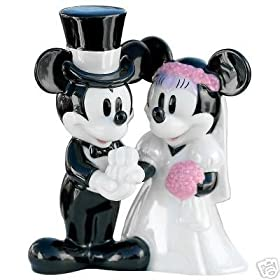 Retired Disney Mickey & Minnie Mouse Wedding Cake Topper