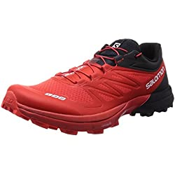 Salomon S-Lab Sense 4 Ultra SG Trail Running Shoe - Men's Racing Red/Black/White, 11.0