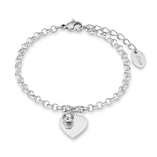 s-Oliver-Damen-Armband-Herz-gravurfhig-Edelstahl-Kristall-wei-Rundschliff-20-cm