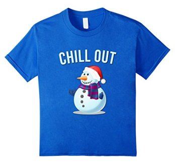 Chill-Out-Snowman-T-Shirt