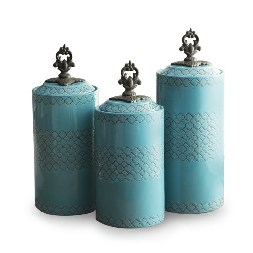 American Atelier Canisters, Blue, Set of 3