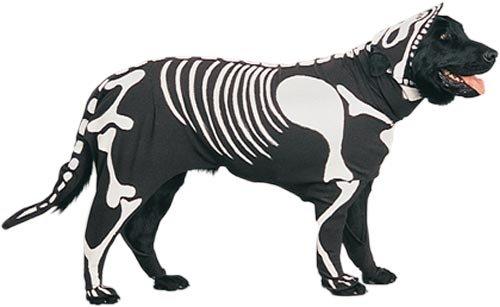 Skeleton Dog Costume (Size: Medium)