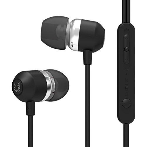 Uiisii 高音質 ノイズキャンセリング カナル型 インイヤーイヤホン  マイク内蔵 MP3 / iPad / iPhone / Andriod / 大部分のスマートホンに適用する U3 ブラック