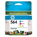 Genuine OEM HP 564 3-Color Combo Pack: 1-Cyan/Magenta/Yellow for $26.65 + Shipping