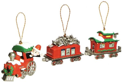 Monopoly train christmas ornament