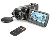 Hausbell-302S-FHD-Camcorder-1080p-Remote-Control-Infrared-Night-Vision-Digital-Video-Camera-with-32G-SD-Card-and-Touchscreen-Black