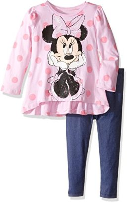 Disney-Girls-Toddler-Girls-Minnie-Mouse-Legging-Set-with-Fashion-Top-Pink-2T