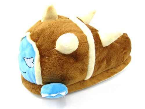 E-Mell Unisex League of Legends Cosplay Rammus Plush Slippers Shoes (One Size, Brown)