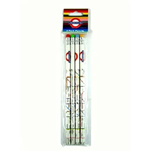 London Underground Map Printed Pencils Set (4) -LON1263A