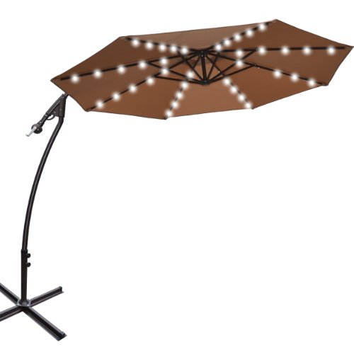 Cantilever Umbrella Solar Lights