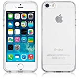 SDTEK Clear iPhone 5 / 5s / SE Custodia Cover Case Bumper Caso Trasparente Crystal Clear Silicone Gel