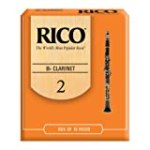 Rico Bb Clarinet Reeds, Strength 2.0, 10-pack for $12.49 + Shipping