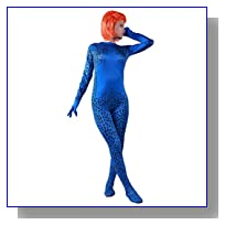Mystique Cosplay Blue Female Tights Costume Large