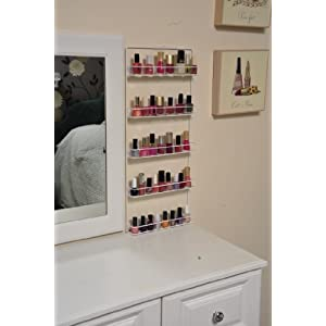 Avonstar classic range nail varnish rack (cosmetic white)