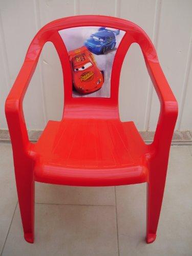 Vollkunststoff Kinderstuhl Stapelsessel Rot mit Cars Motiv
