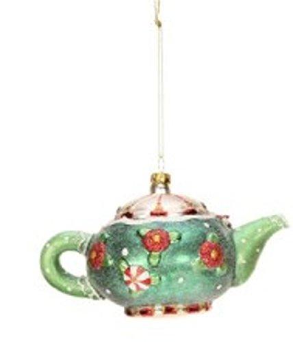 Mary Engelbreit Glass Tea Pot Christmas Ornament
