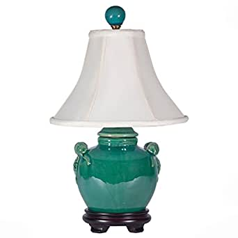 Turquoise Blue Pottery Accent Table Lamp - - Amazon.com
