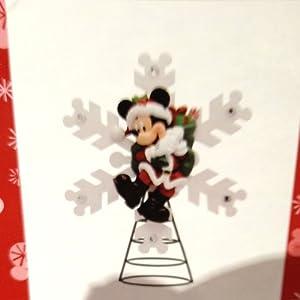 Disney Santa Mickey Mouse Christmas Tree Topper