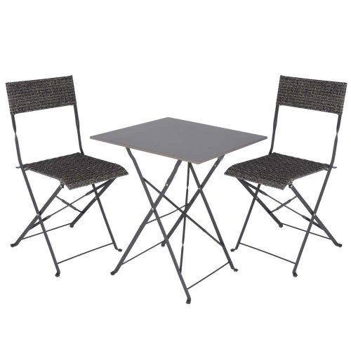 gartenm bel set tisch mit 2 rattan st hlen garten sitzgruppe reviews gartenm bel. Black Bedroom Furniture Sets. Home Design Ideas
