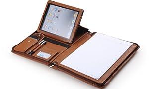 高級ポートフォリオケースショルダーストラップ付き iPad AirとMacBook用