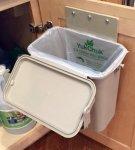 YukChuk Under Counter Kitchen Food Waste Compost Container Installed