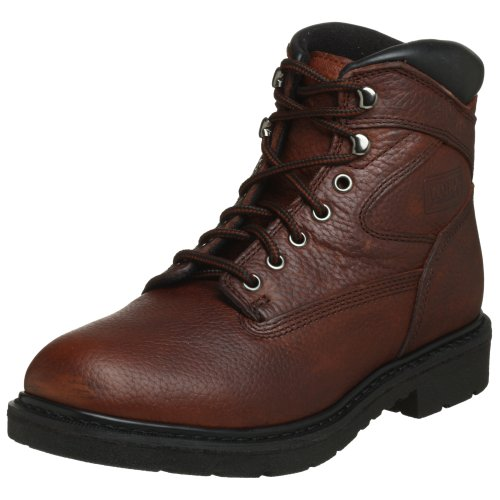 """WORX by Red Wing Shoes Men's 6515 6"""" Work Boot,Brown,9 M ..."""