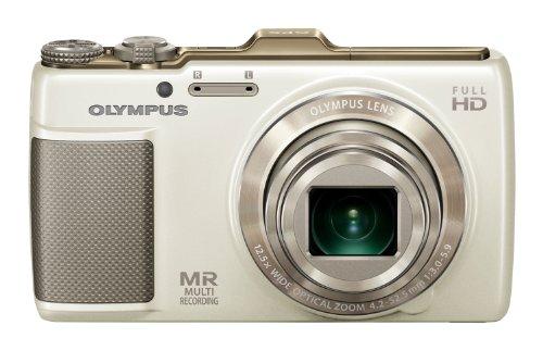 OLYMPUS デジタルカメラ SH-25MR ホワイト iHSテクノロジー GPS・電子コンパス内蔵 1600万画素 裏面照射型CMOS 光学12.5倍ズーム DUAL IS ハイビジョンムービー 3.0型タッチパネルLCD 3Dフォト機能 SH-25MR WHT