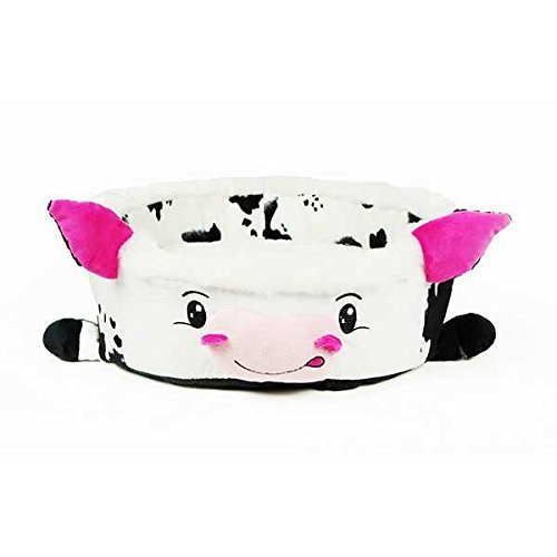 Soft Cartoon Cow Bowl Pet House Bed Kennel