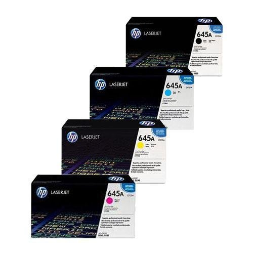 Genuine HP Laser Toner Cartridge Value Pack, Full Set of 4 Black, Cyan, Yellow, Magenta, C9730A, C9731A, C9732A, C9733A, Colour Laserjet 5500 Series