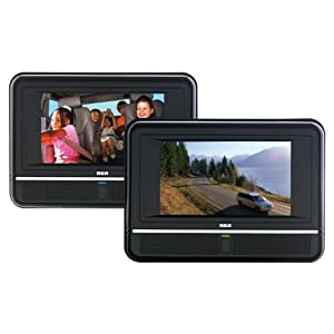 RCA DRC6272 Twin Mobile DVD Players - play two different DVDs!