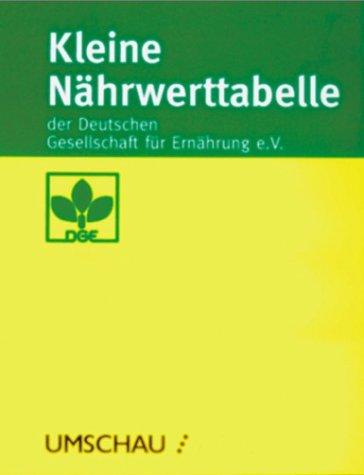Kleine Nährwerttabelle der Deutschen Gesellschaft für..