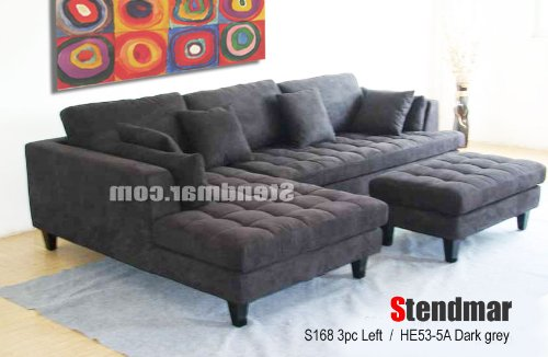 3pc euro design dark gray microfiber sectional sofa set s168ldg huge discount sofas55