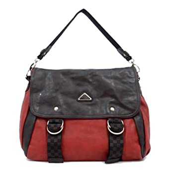 F0042A1 MyLUX Department Store Close-Out High Quality Designer Inspired Women/Girl Fashion Designer Work School Office Lady Student Handbag Shoulder Bag Purse Totes Satchel Clutches Hobos (More Colors Available) (black) (RED)