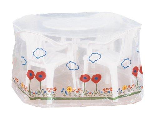 Wenko 5827111100 Schutzhülle Wiese für Sitzgruppe - Kunststoff, Ø 160 x 80 cm, transparent