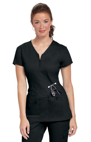 Koi Stretch Mackenzie Black; Nursing Scrubs