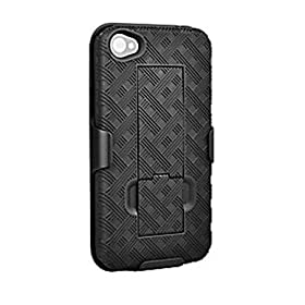 Apple iPhone 4 Shell Holster Combo w/ Kickstand (AIP4HOC) - Non-Retail Packaging