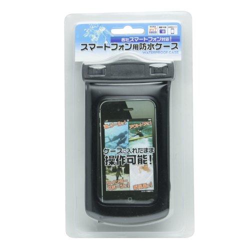 オウルテック 海でもお風呂でもスマートフォンを楽しめる防水ケース ブラック WM0695B