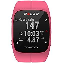 Polar M400 GPS Smart Sports Watch with Heart Rate Monitor (Pink)