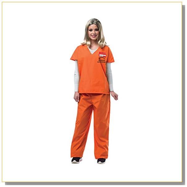 Rasta Imposta Women's Prisoner Suit, Orange, Small/Medium
