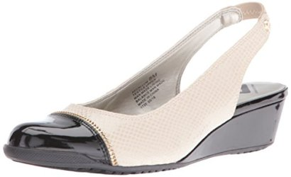 AK-Anne-Klein-Sport-Womens-Callum-Fabric-Wedge-Pump-IvoryBlack-10-M-US