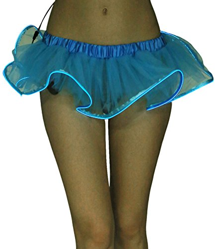 Avidlove Women Organza Tutu LED Party Dance Skirt Light Up Dress Petticoat