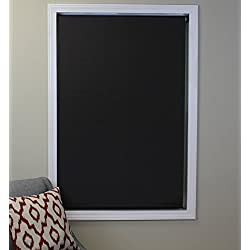Deluxe Blackout Roller Shade, Color: Mocha, Size: 30Wx74H