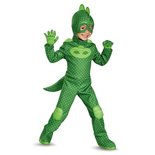 Disguise Gekko Deluxe Toddler PJ Masks Costume, Small/2T by Disguise