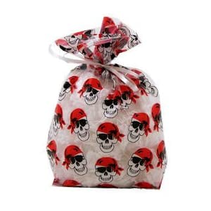 Pirate Skull Cellophane Party Bags