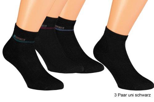 VITASOX 35181-98 Herren Kurzschaft Socken 6er Pack Schwarz 39/42