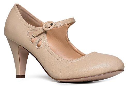 Vegan vintage mary jane heels for