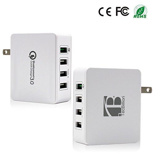 TecBillion Quick Charge 3.0対応4ポート USB超急速充電器 ACアダプタ iPhone/iPad/Galaxy/各種スマホなどに対応