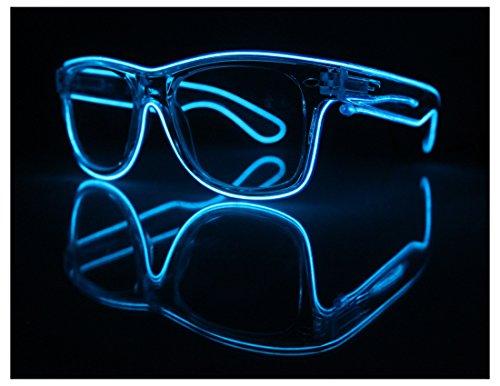 Clear Frame El Wire Glasses – Light Up Glasses – Rave Glasses