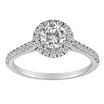 14K White Gold 1.00 cttw Bridal Ring, Size 7